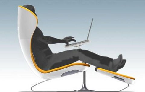 Futuristic Chairs - Futuristic design for ergonomic office chairs
