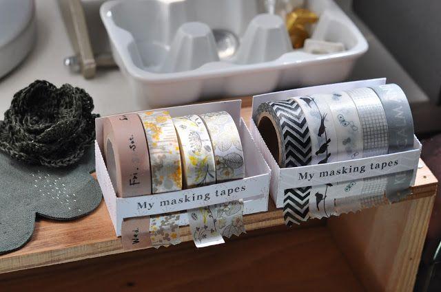 Diy Tuto box for masking tapes. Boite de rangement à masking tapes by l'art de la curiosité