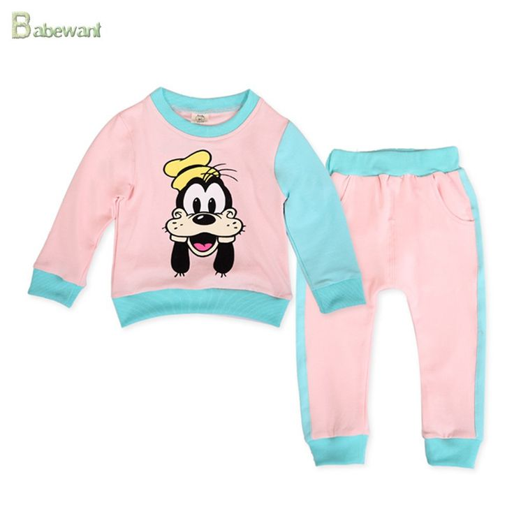 fashion kids boy girl sets sping autumn cotton clothing long sleeve shirt +pants children clothing overseas