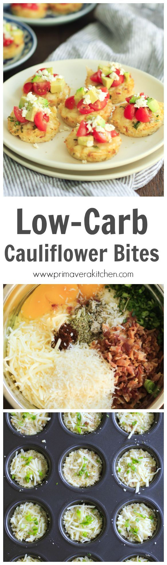 low-carb-cauliflower-bites-Looking for a gluten-free and low-carb snack, side dish or appetizer? What about this ultra-flavorful Low-Carb Cauliflower Bites made without flour.