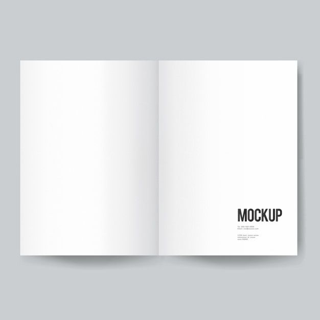 Download Blank Book Or Magazine Template Mockup For Free Magazine Template Mockup Free Psd Magazine Cover Template