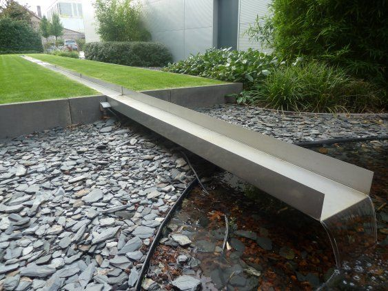 Contemporary rill. Pinned to Garden Design - Water Features by Darin Bradbury.