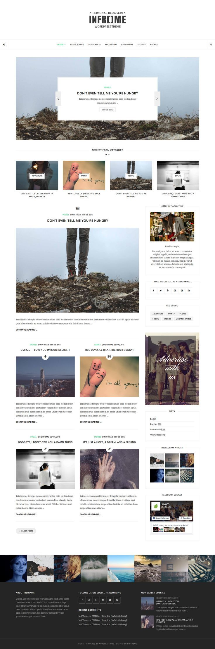 Inframe - Personal WordPress Blog Theme #website #webdesign Download:
