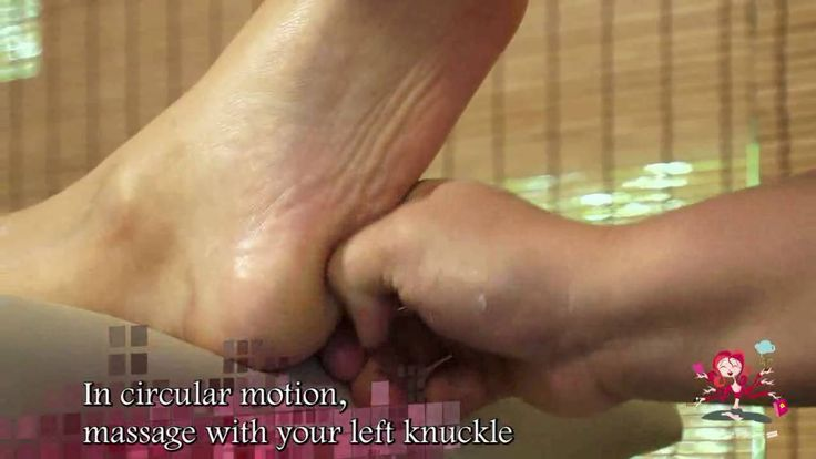 Foot reflexology massage - Video