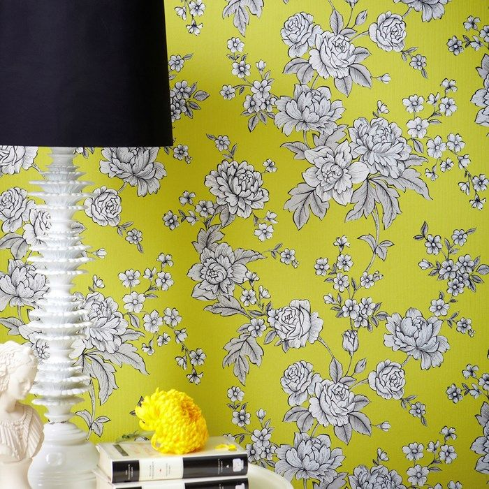 Yellow Flower Wall Coverings