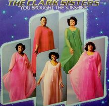 """The Clark Sisters are an American gospel vocal group consisting of four sisters:Jacky Clark Chisholm, Elbernita """"Twinkie"""" Clark-Terrell, Dorinda Clark-Cole, and Karen Clark Sheard. A fifth sister, Denise Clark Bradford, no longer performs with the group. The Clark Sisters are the daughters of legendary gospel musician and choral director Dr. Mattie Moss Clark."""