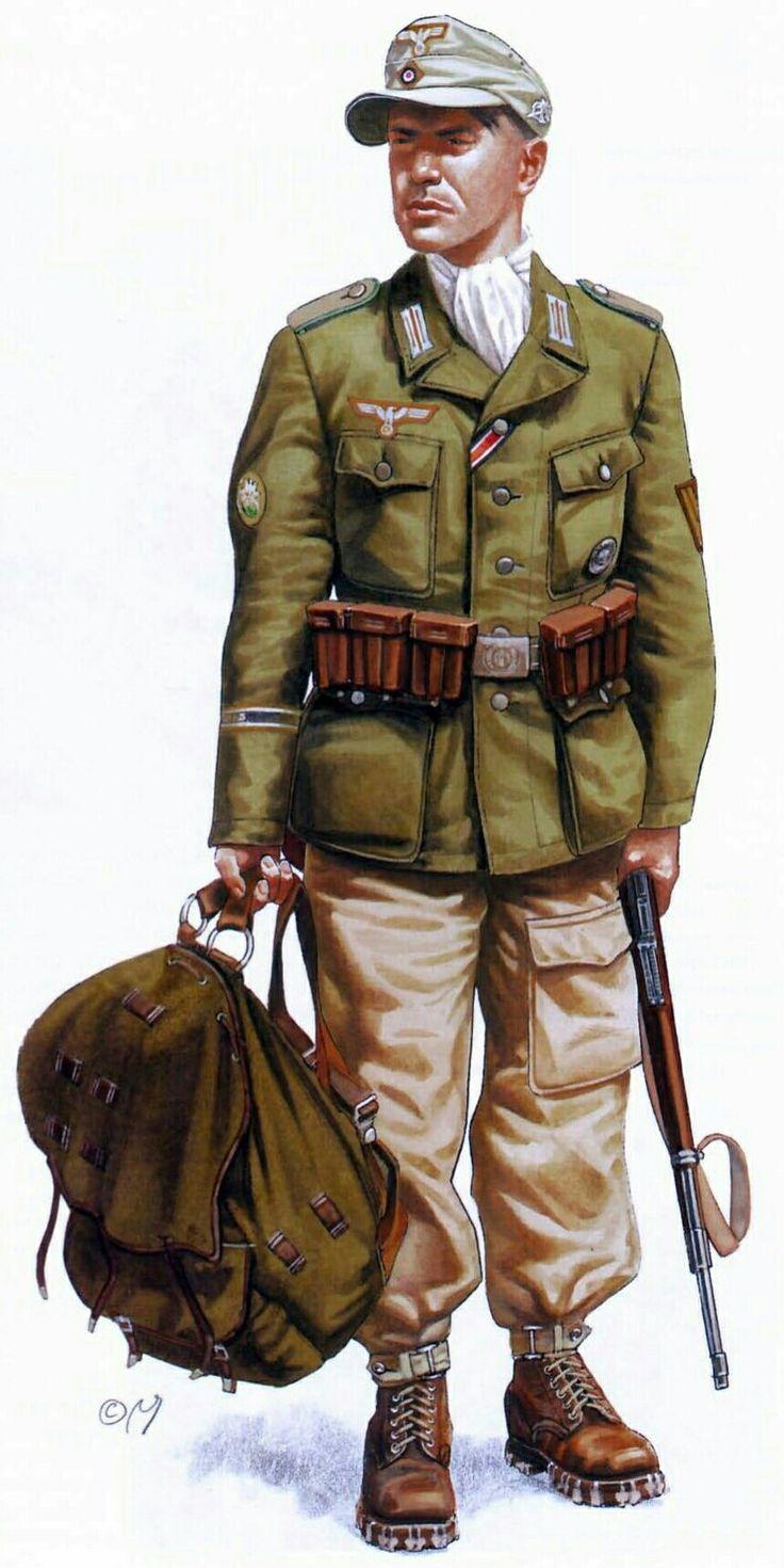 Afrika Korps, Gebirgsjager, 1943,Tunisia - pin by Paolo Marzioli