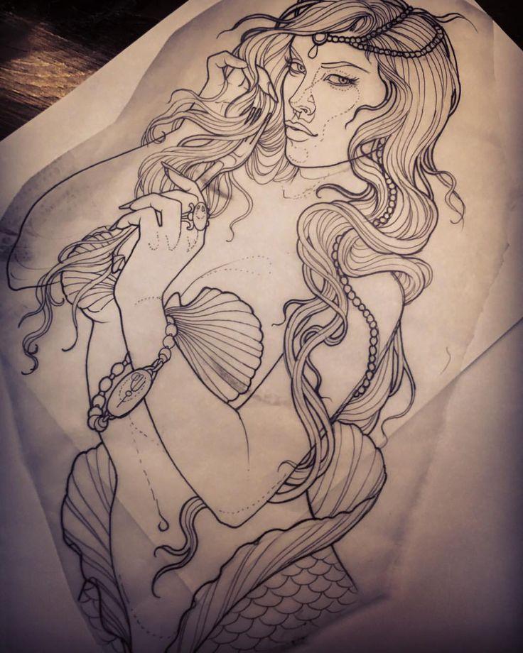 Naked Mermaid Tattoo 76