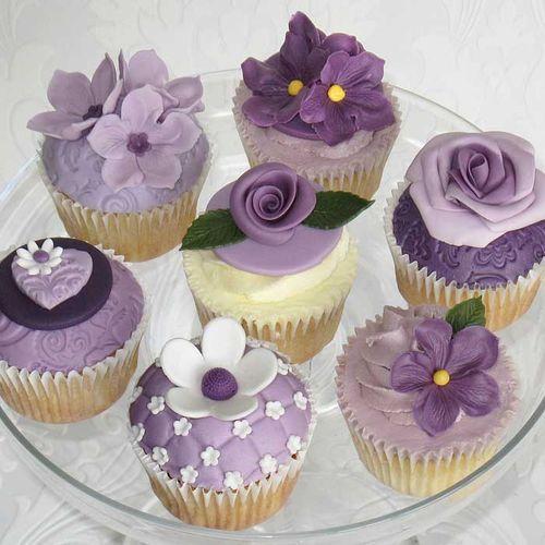 Too pretty to eat!: Purple Cupcakes, Cup Cakes, Sweet, Wedding Ideas, Food, Purple Flowers, Cupcake Ideas, Flower Cupcakes, Wedding Cake
