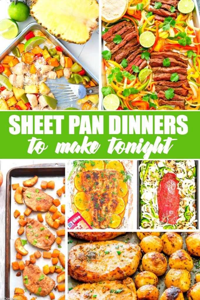 You are going to love these 20 sheet pan dinners to make tonight! They are simple to make, easy to clean up afterwards and taste delicious.