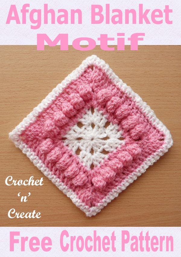 Free Crochet Pattern Afghan Blanket Motif Uk Format Crochet