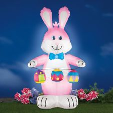 Pink Easter Bunny decoration.   Easter Egg Decoration days are back! Find your favorite! #easter #affiliateami #easterbasket #easteregg #bunny #bunnyrabbit #bunnyears #happyeaster #easterdecorations #holidays