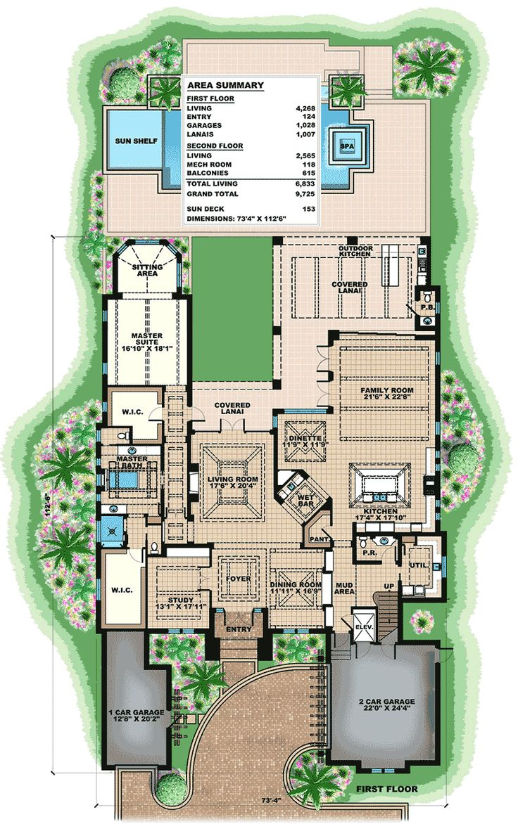 Plan 66372WE Top Of The Line Florida House Plan