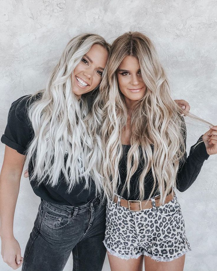 Blonde Besties / Ice Blonde And Honey Blonde Long Wavy