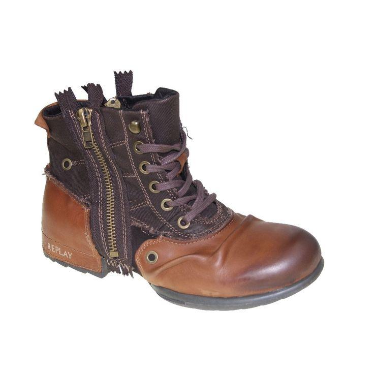 REPLAY-Schuhe-Stiefel-CLUTCH-tan