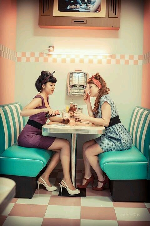 Always look your best when having a coke float #pinup #retro