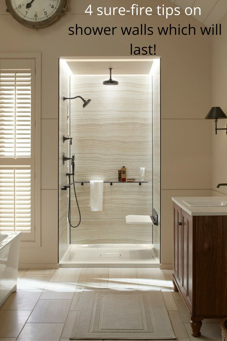acrylic panels for bathroom walls%0A   SureFire Strategies for Shower Walls which Last
