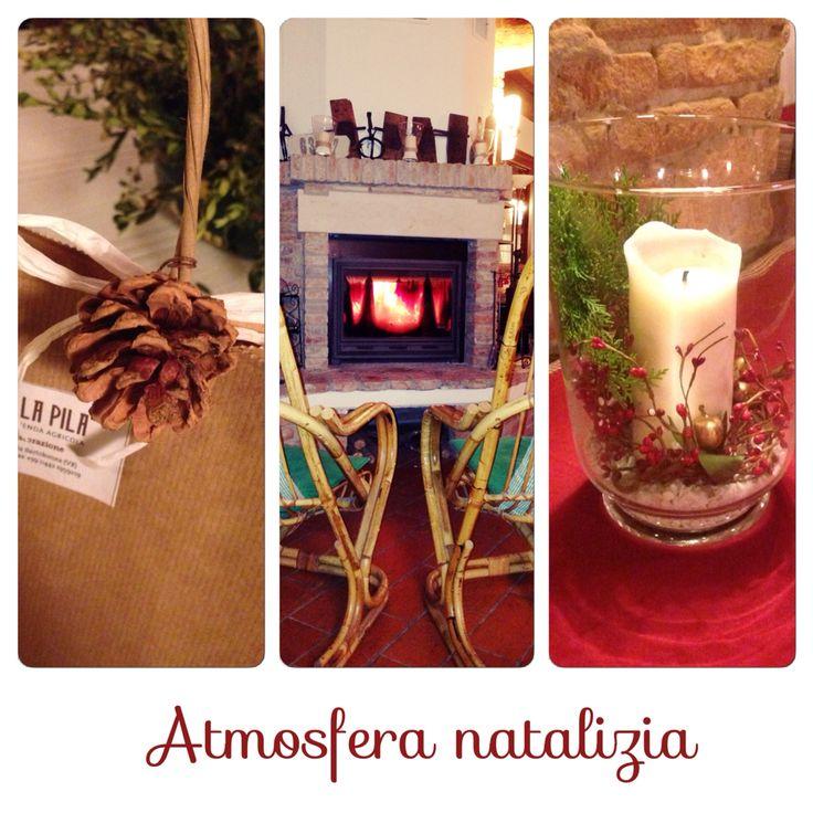 Christmas elements in the farmhouse. Agriturismo Tenuta la Pila.