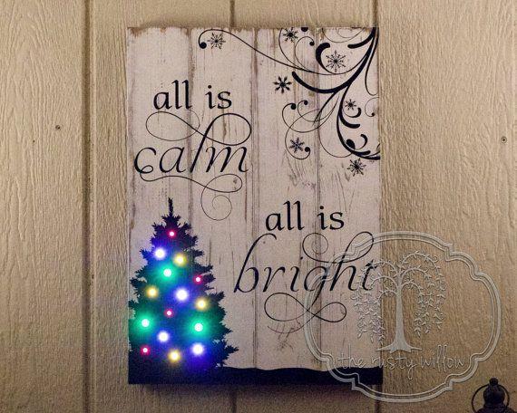 Led Light Christmas Canvas