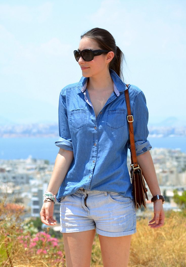 HOW TO WEAR YOUR OVERSIZED DENIM SHIRT #1 | STYLESCREAM.com