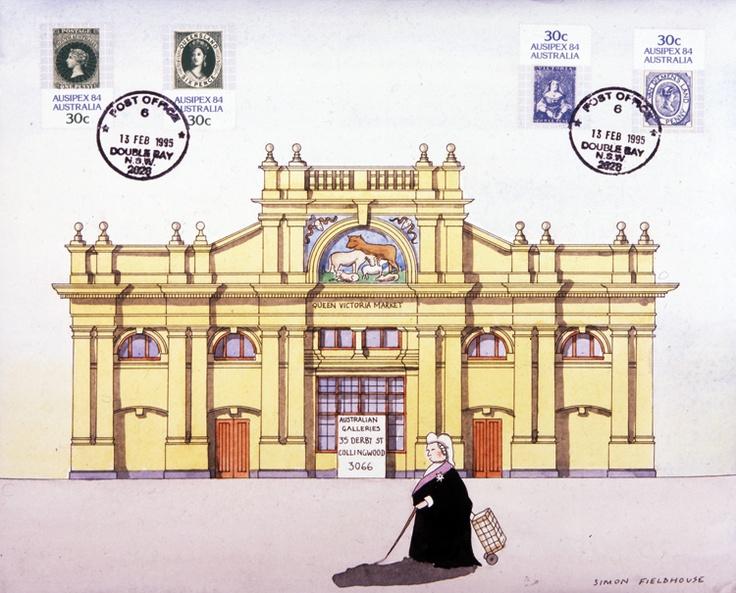 Queen Victoria Markets from Melbourne Architecture | Simon Fieldhouse - Artist