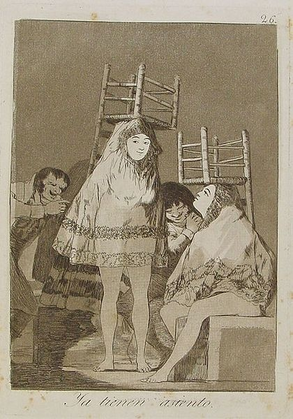 Francisco Goya, Now they are sitting well, Los Caprichos no. 26