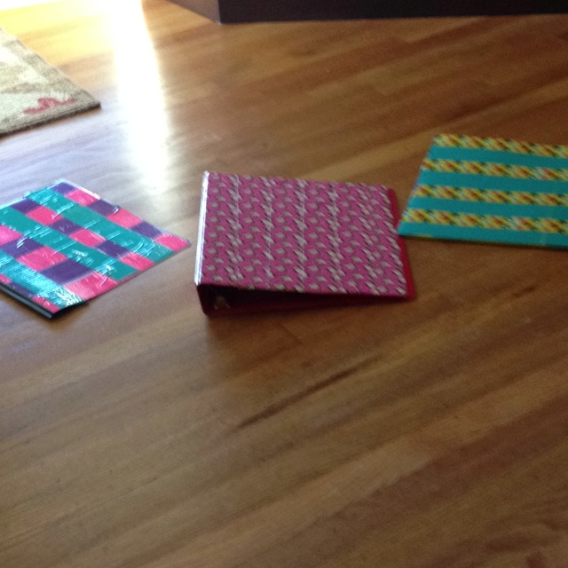 Duct tape binders! Home taped!