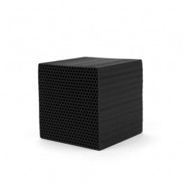 Made in Kyoto, Japan, the Chikuno Cube naturally purifies the air with the power of activated bamboo charcoal and clay minerals. The unique micro-honeycomb structure of the Chikuno Cube increases the surface area and efficacy of the square, making this tiny object capable of absorbing odors and purifying the air in an enclosed space up to 17-square feet––perfect for refrigerators, closets and bathrooms. Recipient of the Japanese Good Design award in 2008.