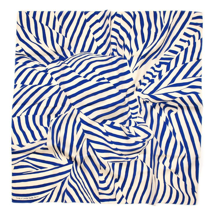 Furoshiki Stripe Scarf - Blue  #japan #scarf