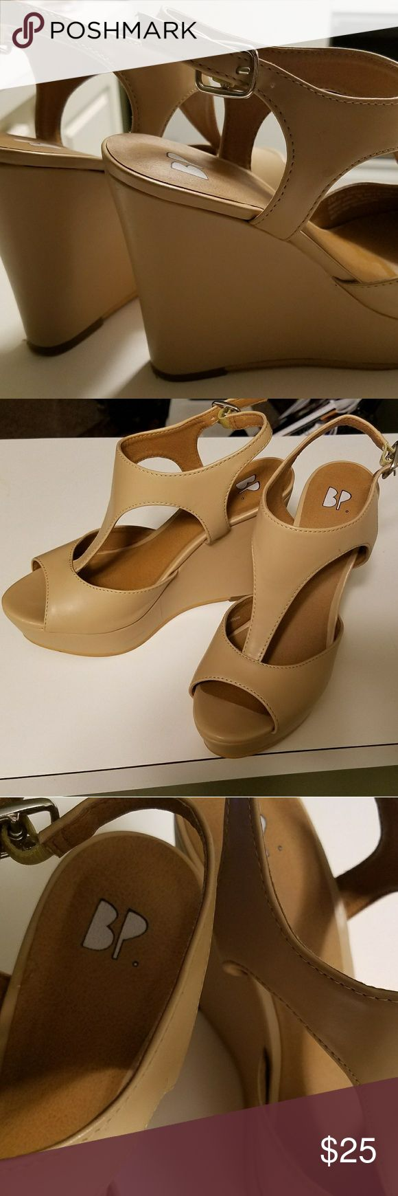 Wedge shoes Tan wedge shoes that are comfortable and stylish BP Shoes Wedges