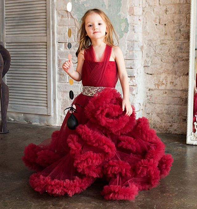 Charming High quality flower girl dresses.kids prom dresses evening gowns