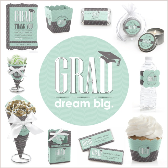 Graduation Party Theme Ideas: Mint and Grey theme #Graduation