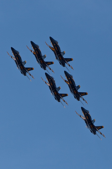 Blue Angels.  --Got to watch them practice on base.  Absolutely incredible.  My jaw kept dropping open at every manuever.