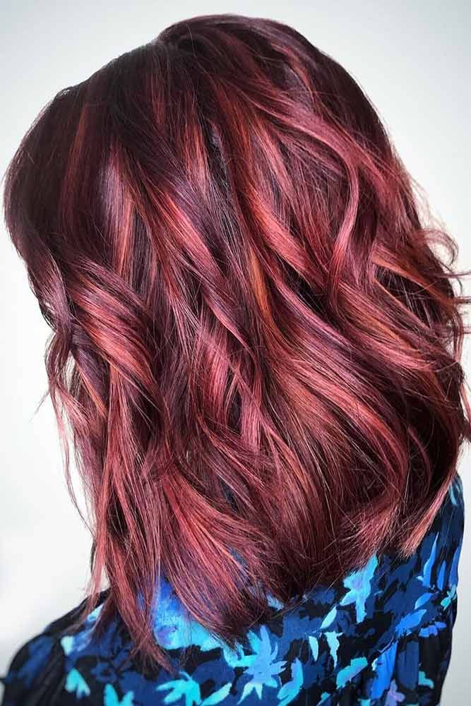 25 Ideas Of Pulling Off Red Highlights To Flame Up Your Base Hair Color Auburn Brown Hair With Highlights Hair Highlights
