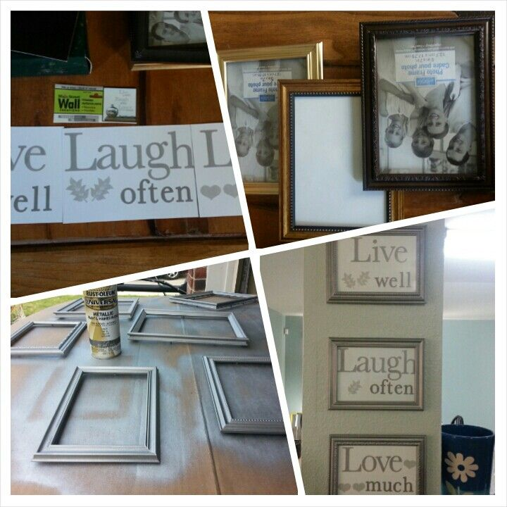 Dollar Tree Frames And Wall Stickers Rusto Leum Flat