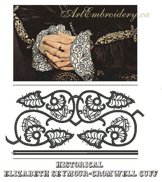 Renaissance Tudor Elizabethan Women's Chemise with Elizabeth Seymour-Cromwell blackwork reproduction. Copyrights DesignsFromTime 2015 All Rights Reserved. #Elizabethan #Blackwork #Renaissance #Tudor #Costume