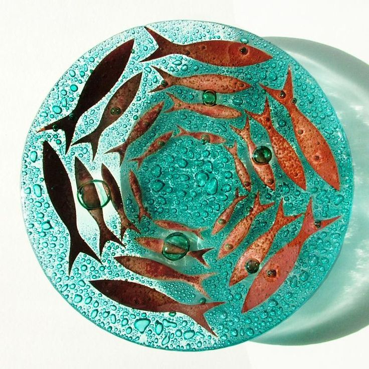 Handmade Glass Pilchard Bowl - CoastalHome.co.uk: Coastal Living