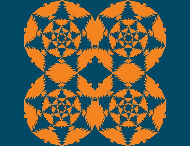 03. Simetría de reflexión especular y crecimiento radial, contraste por temperatura