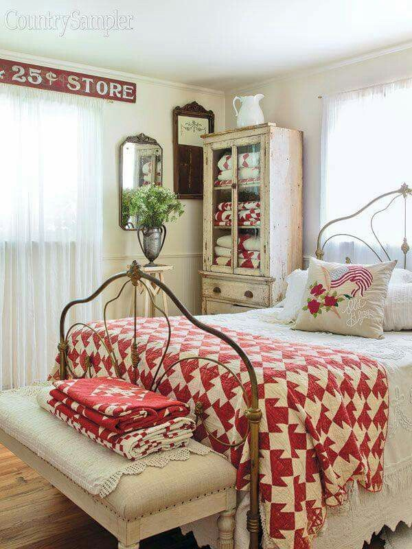 Love the vibrancy in this bedroom NOTE: I prefer color mixed with whites and vintage style