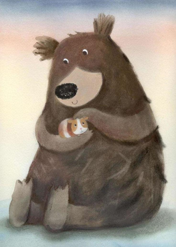 Картинки смешные медведь и заяц