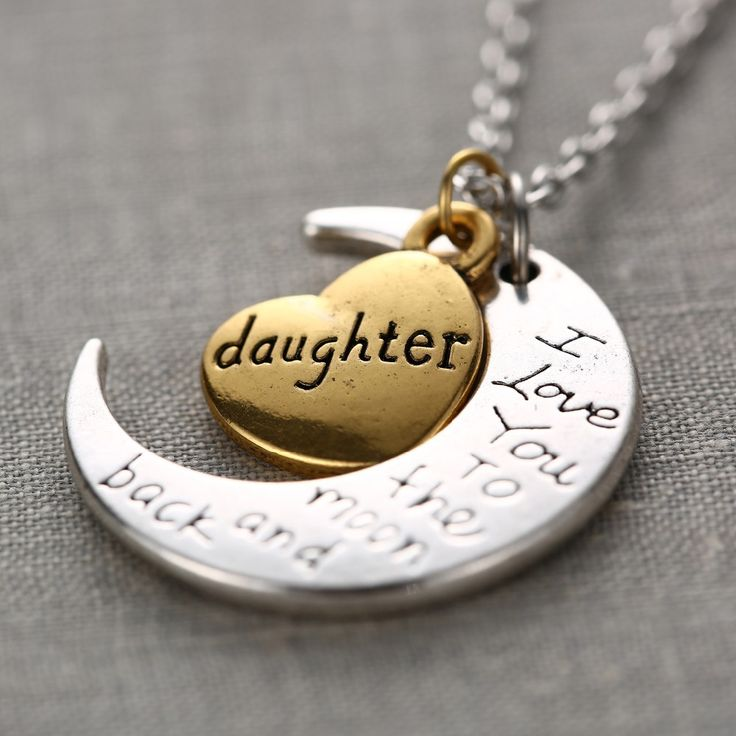 Fashion I Love You Mother Mom dad sister Gift Silver Gold Engraved Letter Pendants Statement Choker Necklace Jewelry 2015