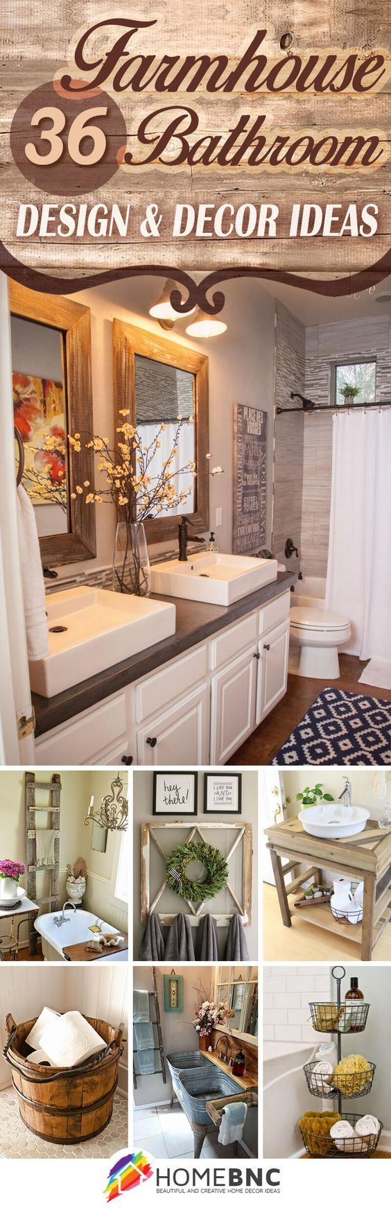 Rustic bathroom decor - 36 Beautiful Farmhouse Bathroom Design And Decor Ideas You Will Go Crazy For