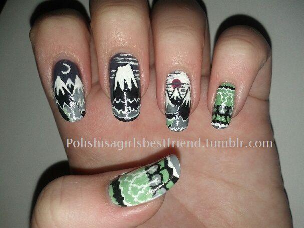 hobbit nail art