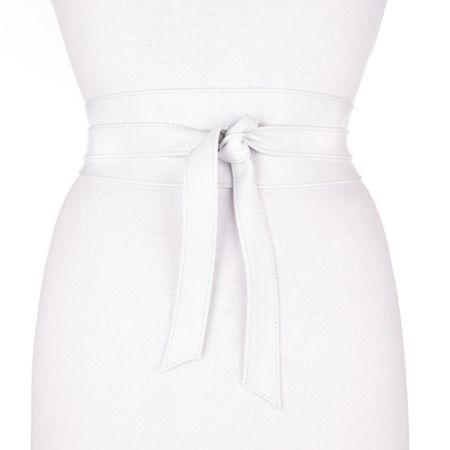 Nina Leather Belt in White