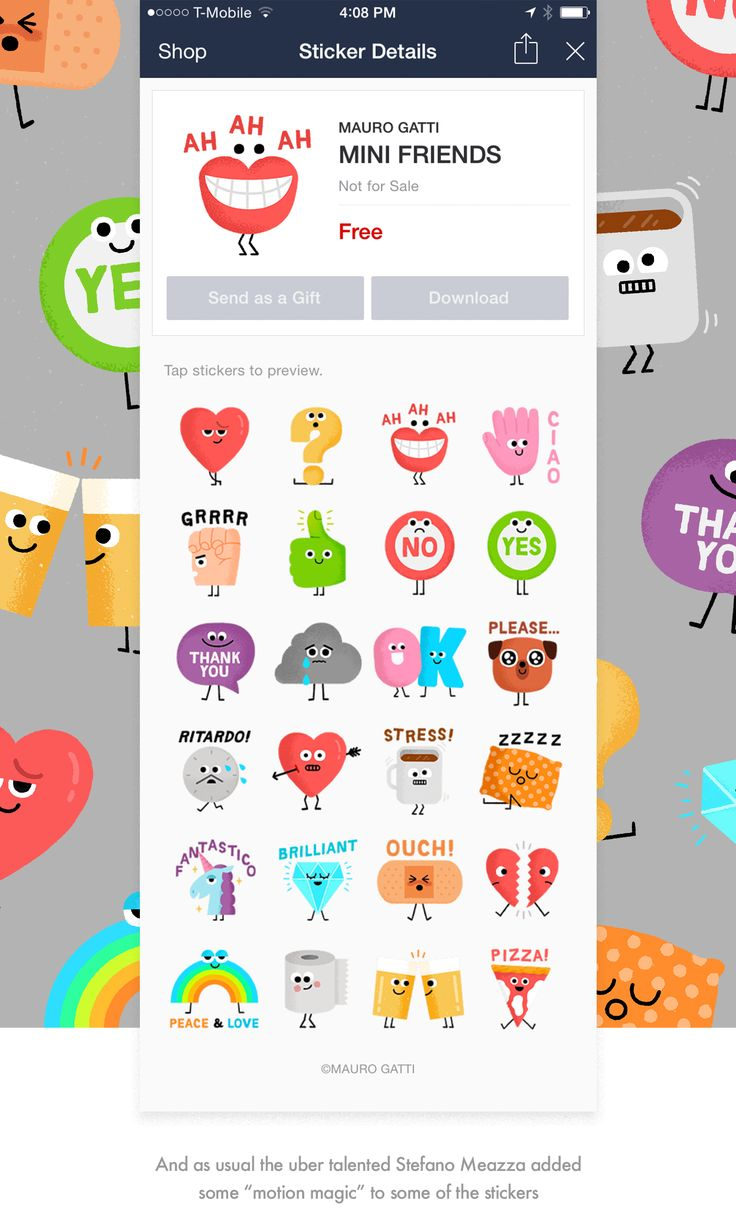 Because all good things come in threes, please welcome MINI FRIENDS, my third stickers set created for the messaging app LINE. The small things around us come to life to express our feelings. Use this adorable set of stickers to add some fun to your daily chats!