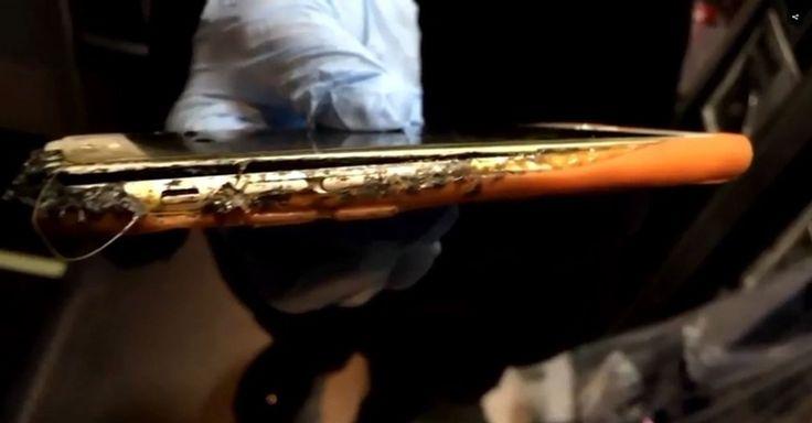 iPhone 6 entrou em combustão durante voo