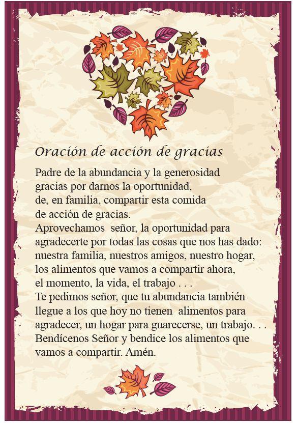 Oracion del Dia de Gracias