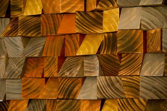 Wood Wall Art geometric wood art industrial by ArtGlamourSligo