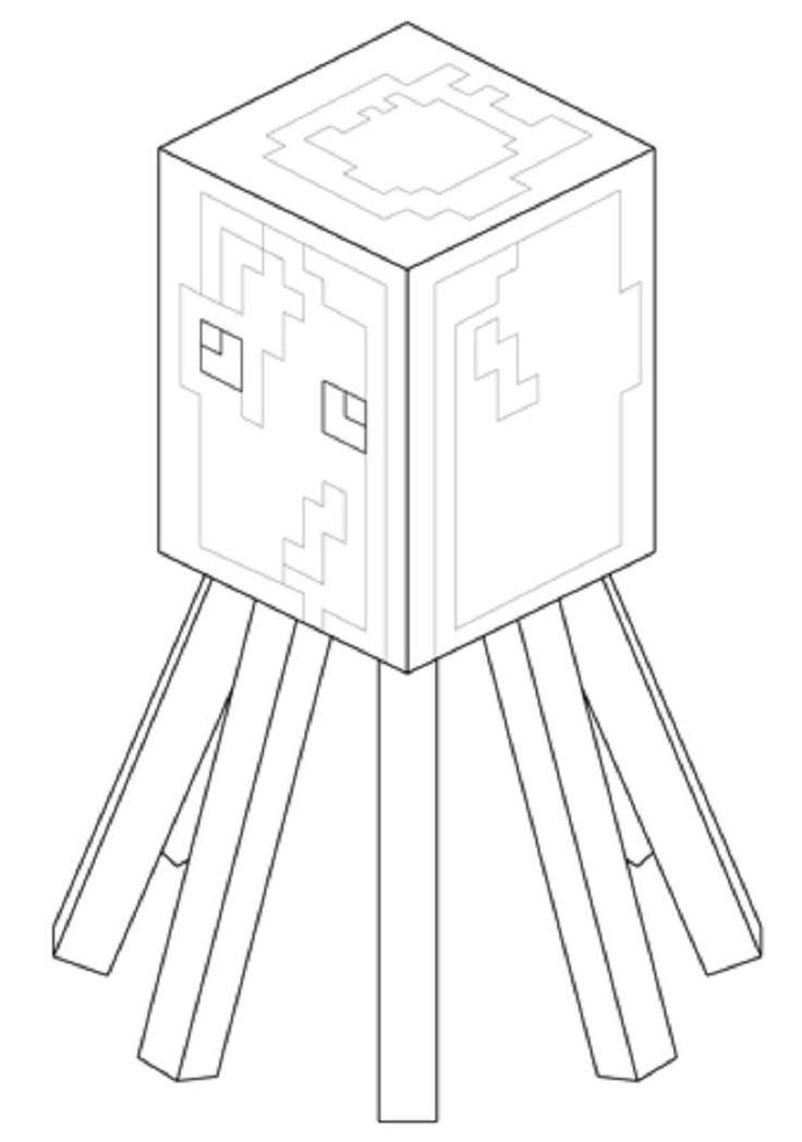 Minecraft Coloring Pages Squid Minecraft Coloring Pages Coloring Pages Minecraft