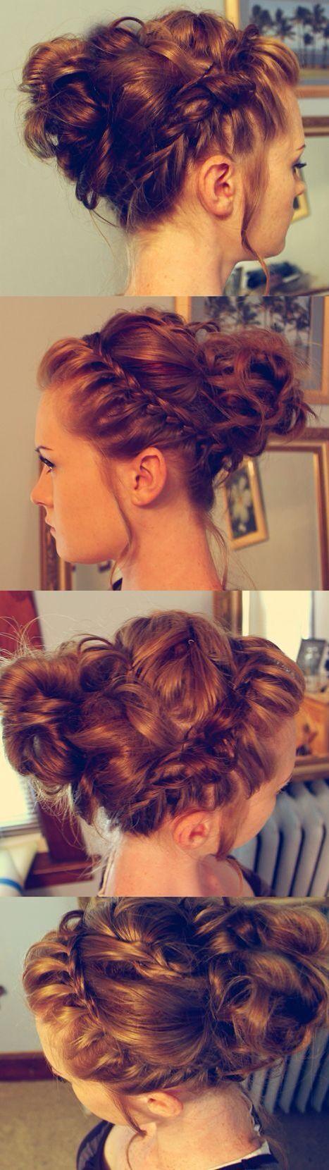 um penteado muito bonito para utilizar numa ocasião muito especial
